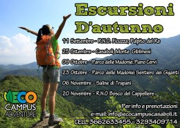 Calendario escursioni d'autunno